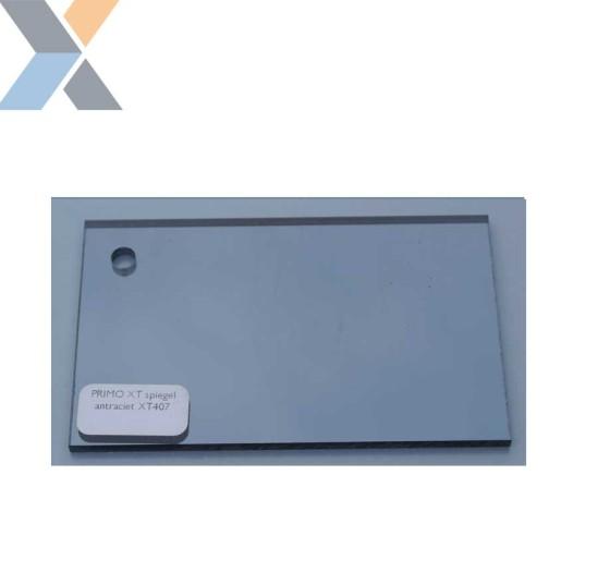 Acrylaat plaat Spiegel Antraciet XT (Plexiglas, PMMA)