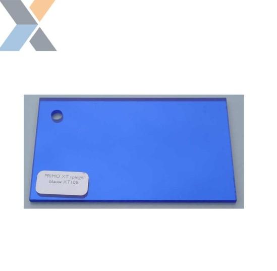 Acrylaat plaat Spiegel Blauw XT (Plexiglas, PMMA)