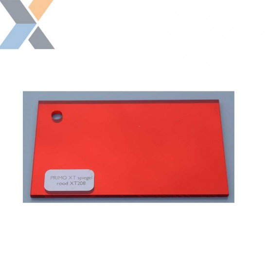 Acrylaat plaat Spiegel Rood XT (Plexiglas, PMMA)